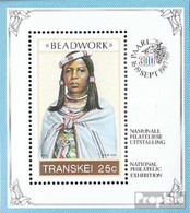 Südafrika - Transkei Block4 (kompl.Ausg.) Postfrisch 1987 Perlschmuckarbeiten - Transkei