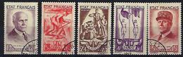 """FR YT 576 à 580 """" Secours National """" 1943 Oblitéré - Gebraucht"""