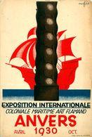Cpsm ANVERS - Exposition Internationale Coloniale Maritime 1930 - Signé Marfurt ( Léo Marfurt Affichiste 1894-1977) - Antwerpen