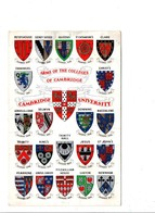 ARMOIRIES DES COLLEGES DE CAMBRIDGE - Cartoline
