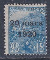 Monaco N° 40 X  Mariage De La Princesse Charlotte : 25 C. + 15 C. Bleu Trace De Charnière Sinon TB6 - Monaco