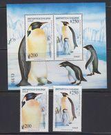 Chile 1992 Antarctica / Emperor Penguins 2v + M/s  ** Mnh (40974) - Chili