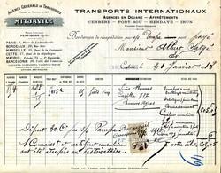 66.CERBERE.TRANSPORTS INTERNATIONAUX.MITJAVILLE.AGENCE A PORTBOU,HENDAYE,IRUN. - Transports