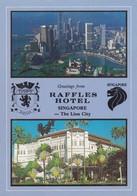 Postcard Raffles Hotel Singapore PU 1987 My Ref  B23162 - Singapore