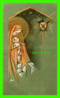 IMAGES RELIGIEUSES - JÉSUSDANS LES BRAS DE MARIE ET DES MOUTONS AU FANAL - GBB LV No 21 - - Santini