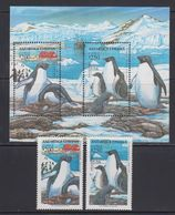 Chile 1993 Antarctica / Penguins 2v + M/s  ** Mnh (40974A) - Chili