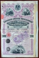 Estados Unidos Mexicanos 1898 . Obligation 5 % . 1000 $ . Republica Mexicana . Mexico . - Shareholdings