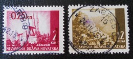 EMISSIONS 1941/43 - OBLITERES - YT 36 + 42A - Croatie
