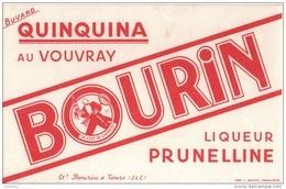 BUVARD - Quinquina Au VOUVRAY BOURIN Liqueur Prunelline - Bourin Fab. à TOURS - Blotters
