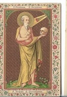DI/6/    S.JEROME HIERONYMUS     LITHO +  GOUDOPDRUK - Religion & Esotericism