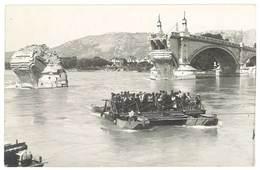 Cpa Carte-photo Valence - Pont Après Le Bombardement , Photo Jacquin Frères ( Bac, Bateau ) - Valence