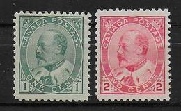 CANADA - YVERT N°78/79 * MLH - CHARNIERE LEGERE - COTE = 50 EUR. - Unused Stamps