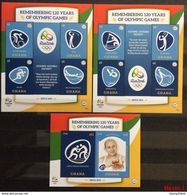 Ghana 2016** SH, SS 1622,1623 Remembering 120 Years Of Olympic Games [1;42,5 ] - Papi
