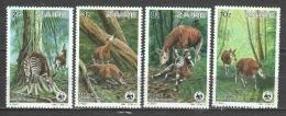 Zaire 1984 Mi 875-878 MNH WWF OKAPI - Unused Stamps