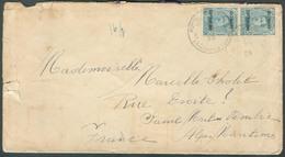 OC 25 Centimes (paire) Surch. ALLEMAGNE DUITSCHLAND Obl. Sc POSTES MILITAIRES BELGIQUE 5 Sur Lettre Du 20-VII-1923 Vers - WW I