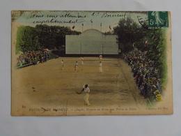 Carte Postale Ancienne Colorée : 64 ANGLET : Fronton Du BRUN, Une Partie De Pelote, Timbre En 1910 - Anglet
