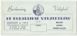De Kortrijkse Verzekering N.V. Lekkerbeetstraat 3 Kortrijk. - Banque & Assurance