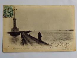 Carte Postale Ancienne : 64 Environs De BIARRITZ ( ANGLET ) : La Barre De L'Adour, Vue Sur La Mer, Animé, Timbre En 1905 - Anglet