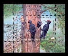 Moldova 2018 Mih. 1041 (Bl.79) Fauna Of Padurea Domneasca Nature Reserve. Birds. Black Woodpeckers MNH ** - Moldavie