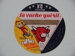 Etiquette Fromage Fondu - Vache Qui Rit - 12 Portions Bel Pub Dingo Mickey Aux Jeux Olympiques  A Voir ! - Cheese