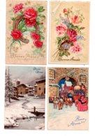 Lot De 8 Cartes Postales, Bonne Année, Anniversaire,enfants -voir état - Cartoline