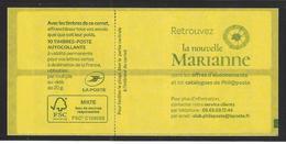 RARE Double Repère Sur Carnet Marianne L'engagée De Yseult. - Usage Courant