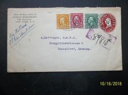 USA: 1915 Rgt. Uprated Postal Envelope To Germany (#GJ1) - 1901-20