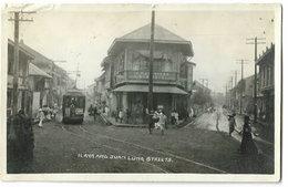 RPPC Manila Ilaya & Juan Luna Streets Trolley Dentist USA Occupied Philippines Real Photo Postcard 1908-1923 - Philippines