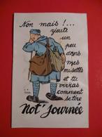 CPA MILITARIA TB COLLECTION / NOMBREUX ILLUSTRATEURS + DE 50 CARTES - Humoristiques