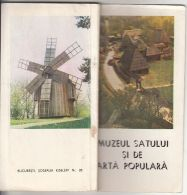 6956FM- BUCHAREST VILLAGE AND POPULAR ART MUSEUM PRESENTATION BOOK, DESCRIPTIONS, PICTURES, MAP, 1981, ROMANIA - Books, Magazines, Comics