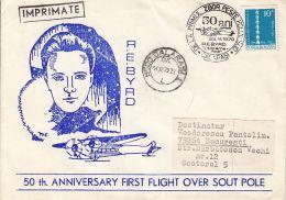 73343- R.E. BYRD FLIGHT OVER SOUTH POLE, PLANE, POLAR FLIGHTS, SPECIAL COVER, 1979, ROMANIA - Polar Flights
