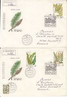 73350- FERNS, PLANTS, REGISTERED COVER FDC, 4X, 1987, RUSSIA-USSR - Plants