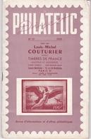 LOUIS MICHE COUTURIER / PHILATELIC 1959 - Catalogues For Auction Houses