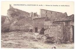 Cpa Chateauneuf Les Martigues - Ruines Du Castellas Et Vieille Mairie - France