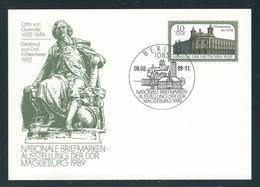 MiNr. P 103 Postkarte Briefmarkenausstellung MAGDEBURG 1989, Gestempelt Mit ERSTTAGSSTEMPEL 08.08.89-11 - [6] República Democrática