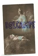 Photo Montage. Ange Gardien, Enfant Endormi Dans La Paille. 1914 - Anges