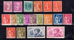 France Belle Petite Collection D'anciens Neufs * 1914/1934. Bonnes Valeurs. B/TB. A Saisir! - France