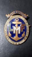 """RARE INSIGNE L.M.F """"LIGUE MARITIME FRANÇAISE"""" - Bateaux"""