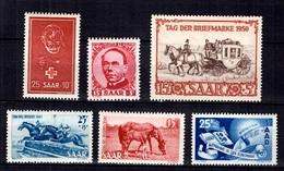 Sarre YT N° 253/254, N° 269, N° 270, N° 271 Et N° 277 Neufs ** MNH. TB. A Saisir! - 1947-56 Occupation Alliée
