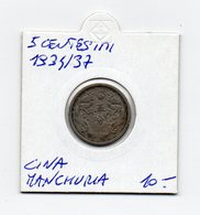 CINA - Manciuria - 1934/1937 - 5 Centesimi - Vedi Foto - (MW1566) - Cina