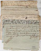 VP13.146 - Lot De 26 Documents Concernant Mr George De FREDEVILLE à MONTAIGUT - EN - COMBRAILLE ( 63 ) - Manuscrits