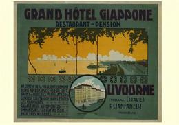 Italian Travel Postcard Livorno Grand Hotel Giappone 1900 - Reproduction - Advertising