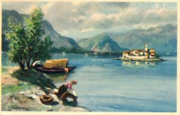 [DC7643] CPA - ISOLA IN MEZZO AL LAGO - Non Viaggiata - Old Postcard - Pittura & Quadri