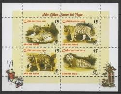 C* (2010). Yv. Bf. 268  /  Tigre - Tiger - Chinese New Year - Katzen - Chinees Nieuwjaar
