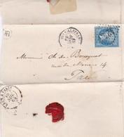 ENVELOPPE CIRCULEE VILLEFRANCE TO PARIS OBLITERE 1964 AVEC LACRE, AUTRES MARQUES- BLEUP - 1862 Napoleon III