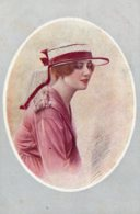 [DC7671] CPA - RITRATTO FEMMINILE - NOS JOLIES ARTISTES (1° SERIE) - PAR HENRI' MANUEL - Non Viaggiata - Old Postcard - Femmes