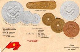 [DC7694] CPA - CHINA - MONETE A RILIEVO COINS - Non Viaggiata - Old Postcard - Cina
