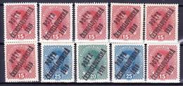 ** Tchécoslovaquie 1919, Mi 63 Ex (Yv 48 Ex), (MNH) Les Type I + II + Petits Varieté - Czechoslovakia