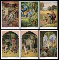 [DC7697] CPA - SERIE DI 6 CARTOLINE - IL GATTO CON GLI STIVALI - DER GESTIEFELTE KATER - Non Viaggiate - Old Postcard - Fiabe, Racconti Popolari & Leggende