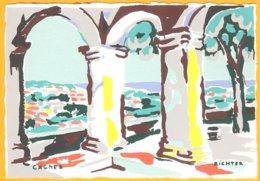 CP édition :C.R. Paris-Cagnes: Aquarelle De Richter - Pittura & Quadri